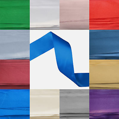 50mm wide Double Sided Satin Ribbon Double Faced 50 mm(1,20,40,60 Metre Lengths)