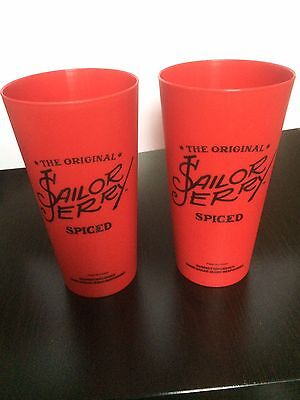 Sailor Jerry Spiced Rum Cups x 2 | Cowgirls | Recyclable | Reusable