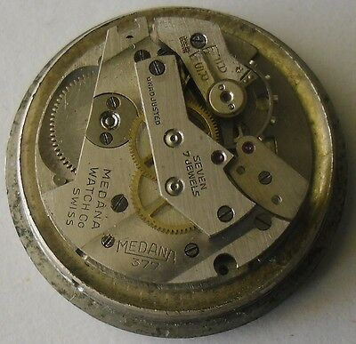 MST 377 Movement Repair or Parts Medana Dial & Hands Vintage 1940's MST 377