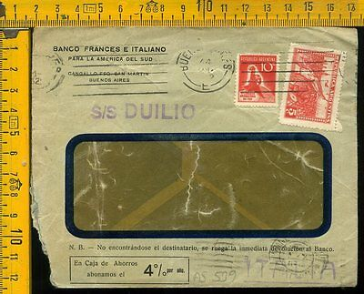 Argentina cover to Italy as 539