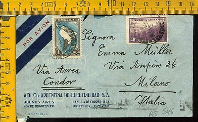 Argentina cover to Italy as 546