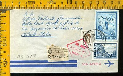 Argentina cover to Italy as 547