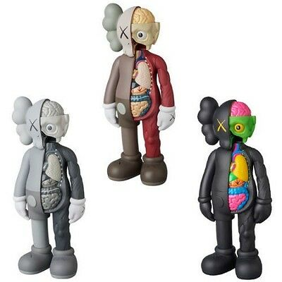 KAWS COMPANION Gray BLACK Brown Flayed Open Edition 2016 Figure New In Box