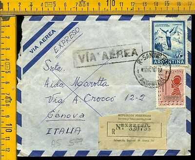 Argentina cover to Italy as 567