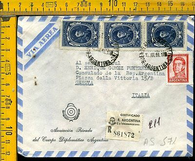 Argentina cover to Italy as 571
