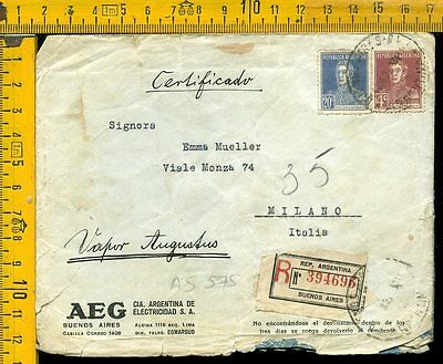 Argentina cover to Italy as 575