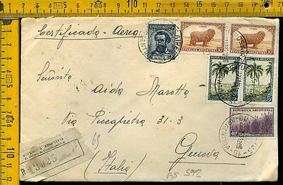 Argentina cover to Italy as 592