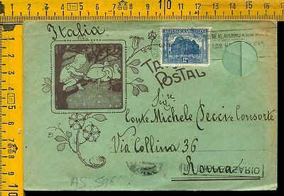Argentina cover to Italy as 596