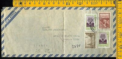 Argentina cover to Italy as 612