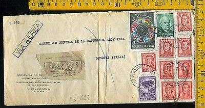 Argentina cover to Italy as 629