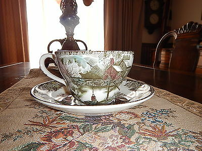 Friendly village Soup Cup and Saucer