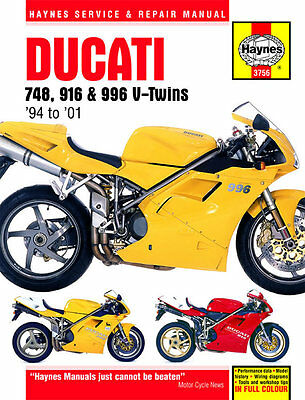 Ducati 748 916 996 4-Valve V-Twins 1994-2001 Haynes Workshop Manual