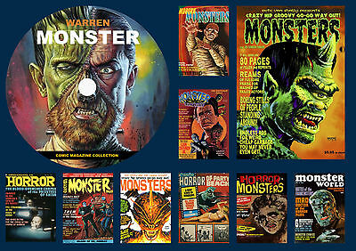 Warren Monster Comic Magazine Collection On DVD ROM