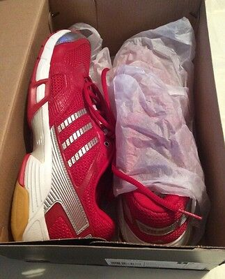 adidas Women's Opticourt VB Volleyball Shoe Red/Silver Size 10.5 B(M)