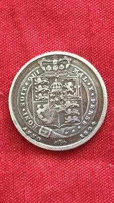King George IV 1824 Sixpence .925 Sterling Silver Coin High Grade
