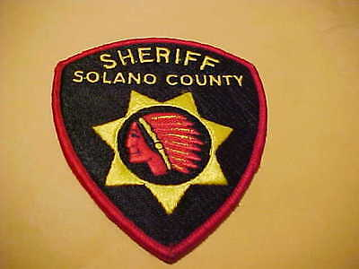Solano County California Police Patch Shoulder Size Unused