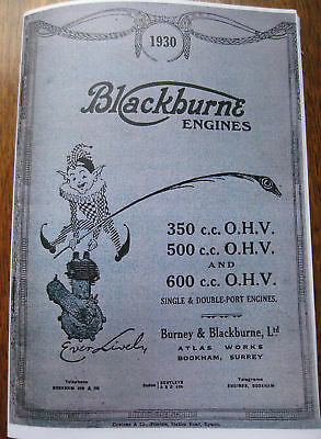 Vintage Blackburne Ohv Engine Overhaul Book 1930