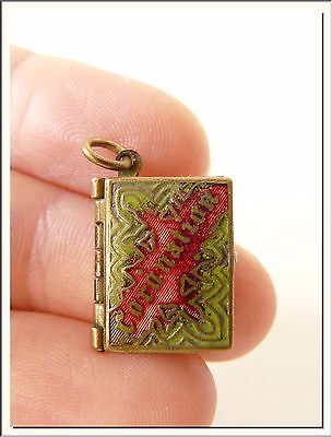 King Edward Vii Coronation ~ 1902 ~ Miniature Photo Book Locket Enamel Pendant !