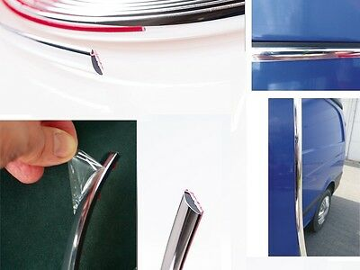 55mm x 20m Chrome Self Adhesive Car  Detail Edging Styling Moulding Trim Strip