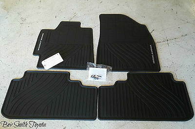 New Oem Toyota Highlander Hybrid 2008-2013 All Weather Floor Mats 4-Piece Set