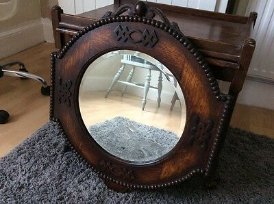 edwardian framed mirror