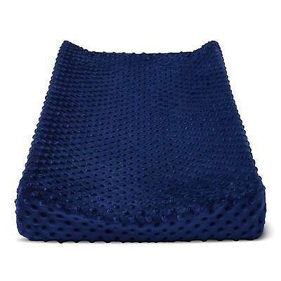 Plush Changing Pad Cover Solid - Cloud Island™ - Navy
