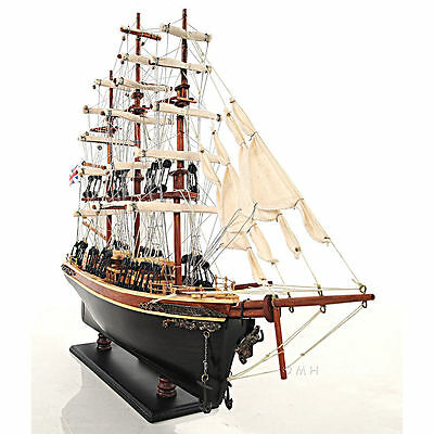 Cutty Sark Famous China Clipper Tall Ship Model Built From Scratch Handcrafted