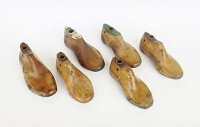 Vintage Portuguese Set Of 6 Various Sizes Wood Molds Forms Children Shoes