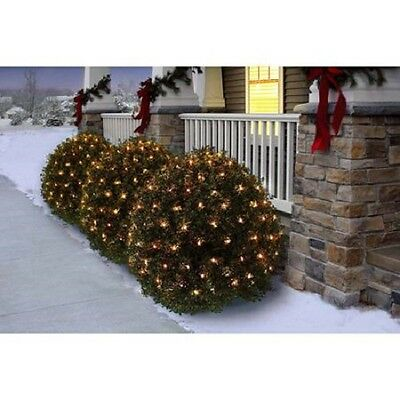 150 Clear Holiday Time Net Lights 4' X 6' Clear Mini Bulbs w Green Wire