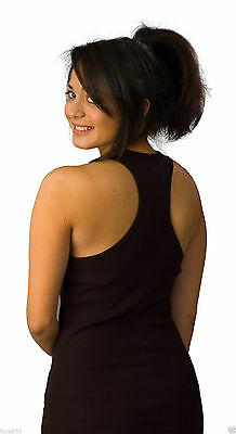 BLACK  BELLA CANVAS Womens Ladies Racerback Long Tank Vest Top  Size16 size xl