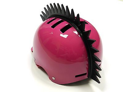 STICK-ON EVEN SAW BLADE SPIKES MOHAWK STRIP FOR MOTORCYCLE BIKE HELMETS C