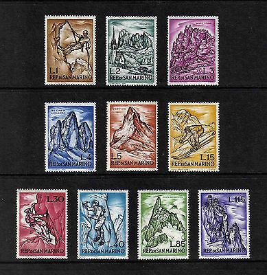San Marino 1962 Mountaineering complete set of 10 values (SG 669-678) MNH