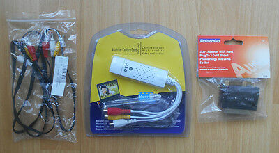 USB To PC Video Capture Kit - VHS - Camcorder - Gaming - RGB Cable Scart Adaptor