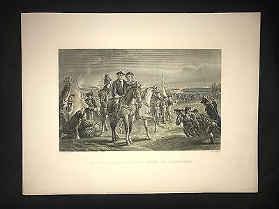 General William Pepperel Louisburg Siege 1878 Engraving