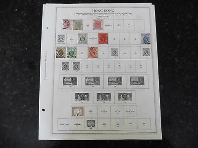 D65 Lot of Hong Kong stamps 1862-1962 hinged on 2 Minkus Album Pages