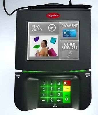 """NEW Ingenico iSC350 Payment Terminal Card Swipe+Chip Reader~5.7"""" Touchscreen~Pen"""