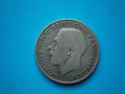 1921 King George V Great Britain Silver Florin 2 Two Shilling Coin