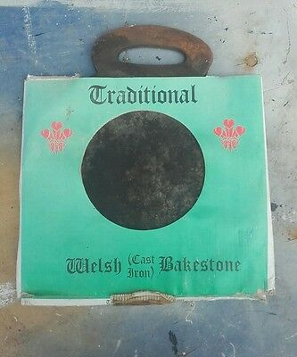 Traditional Welsh cast iron Bakestone made at Treforest Foundry