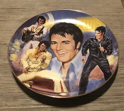 "Elvis - ""The Once and Forever King"" Nostalgia Collectibles Plate 1985 Jacobson"