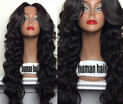 "7A 22"" Virgin Brazilian Human Hair Lace Front Wig, 130 Density"
