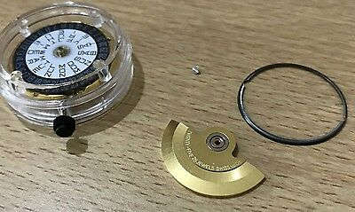 New,eta 2836-2 Automatic Movement,clean,with Crown  Key+Stem,