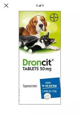 10 Pack Droncit Worming Tablets For Dogs& Cats Wormer Pill