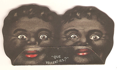 Rare French Black Americana Negro Cardborad Sign OXO Compagnie Liebig - Scarce