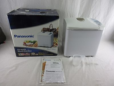 Panasonic SD-YD250 Automatic Bread Maker with Yeast Dispenser, White ~ Excellent