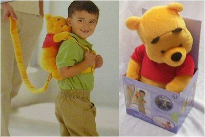 Disney Baby 2 in 1 Safety Harness Buddy - Winnie the Pooh Back Pack New in box