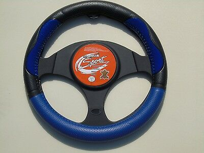 i - TO FIT A VAUXHALL AGILA, STEERING WHEEL COVER, SWC P 30 M, BLUE / BLACK