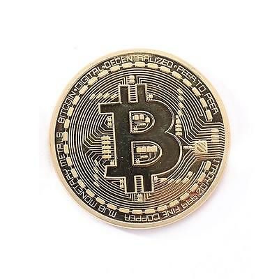 Gold Plated Physical Bitcoins Casascius Bit Coin BTC With Case Gift(Gold)