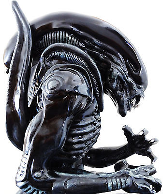 Custom 2 Foot H.r. Giger Black And Silver Alien Replica Statue Figure Bust Rare