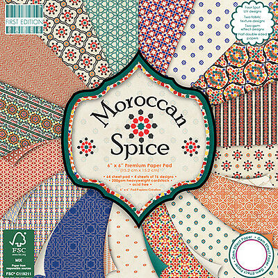 """MOROCCAN SPICE - First Edition Papers - 6""""x6"""" Taster Pack of Papers"""