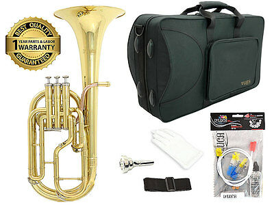 D'Luca 860 Gold Eb Alto Horn, Rose Brass Leadpipe, Case, Cleaning Kit, Warranty